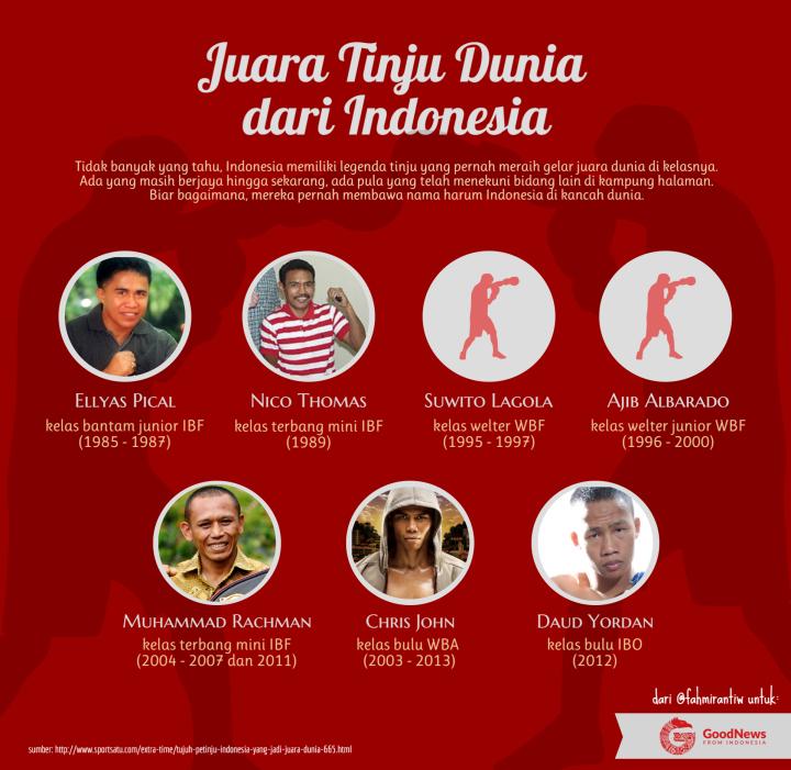 Tujuh Juara Tinju Dunia dariIndonesia